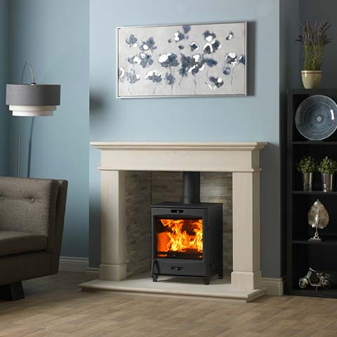 stove with surround
