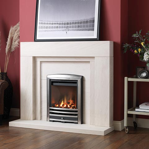 fireplace with surround