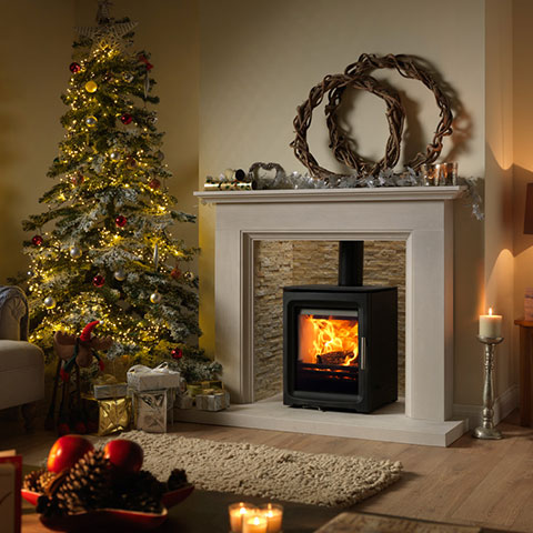 multi fuel stove with surround