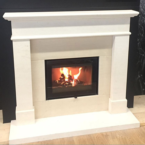 fireplace with marble surround