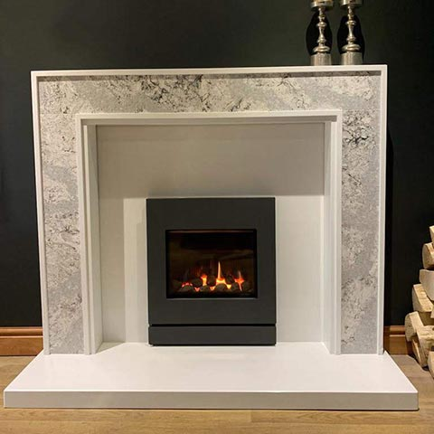 summerhill fireplace with marble surround