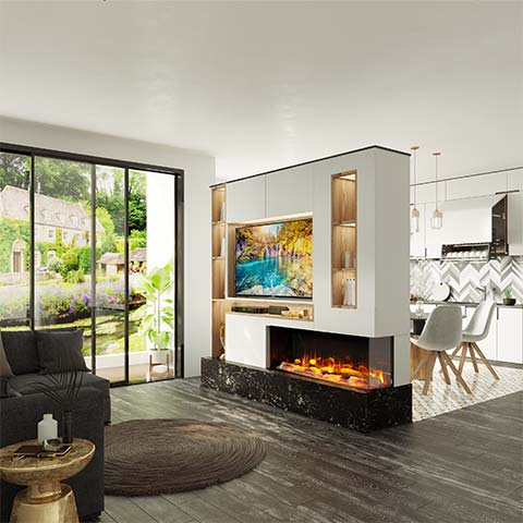 Electric-Fire-Feature-Wall