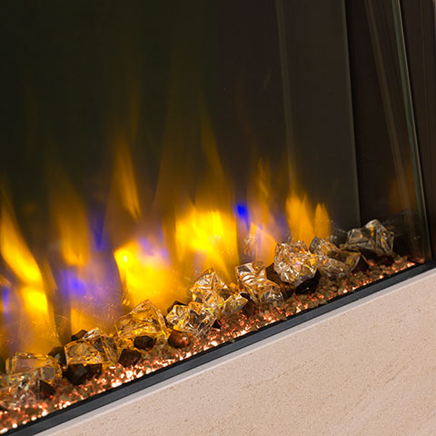 Electric-Fire-Flames-Close-up
